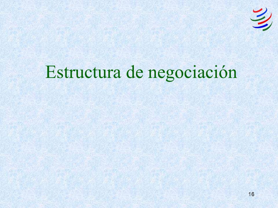 16 Estructura de negociación