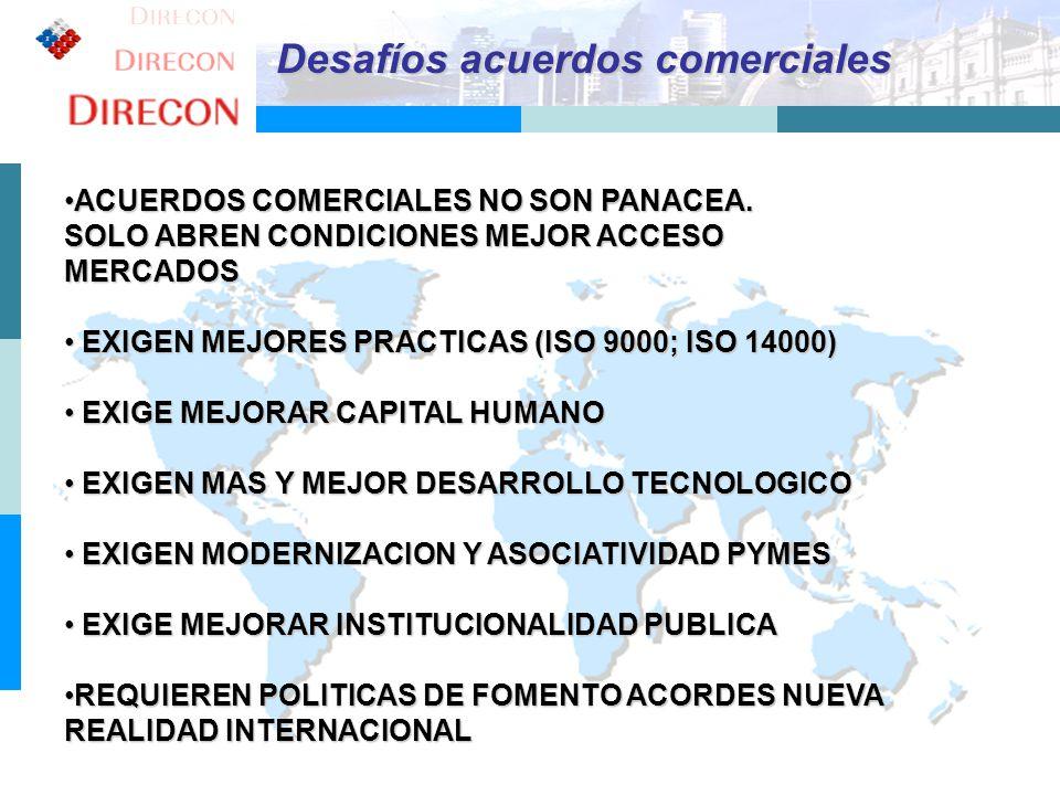 7 ACUERDOS COMERCIALES NO SON PANACEA.ACUERDOS COMERCIALES NO SON PANACEA. SOLO ABREN CONDICIONES MEJOR ACCESO MERCADOS EXIGEN MEJORES PRACTICAS (ISO