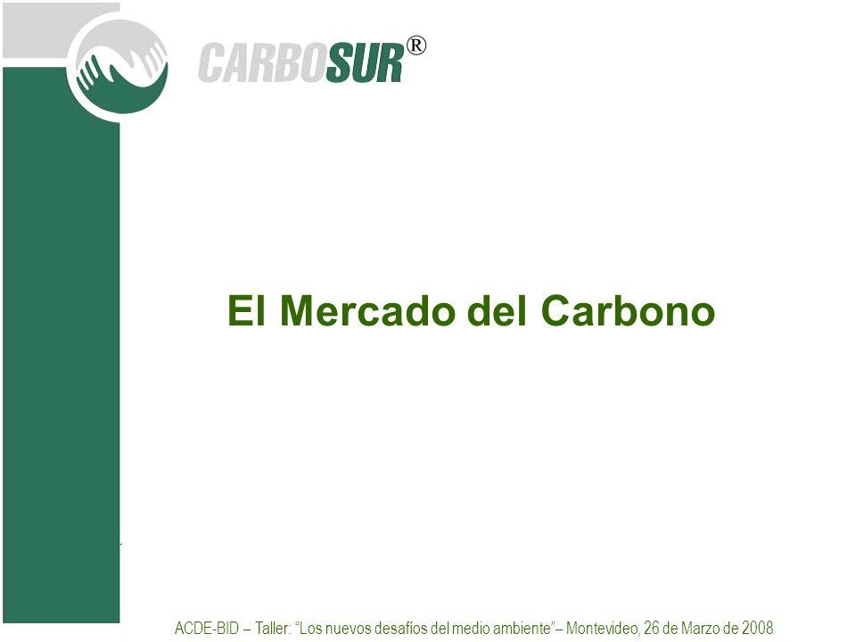 ® El Mercado del Carbono ACDE-BID – Taller: Los nuevos desafíos del medio ambiente– Montevideo, 26 de Marzo de 2008