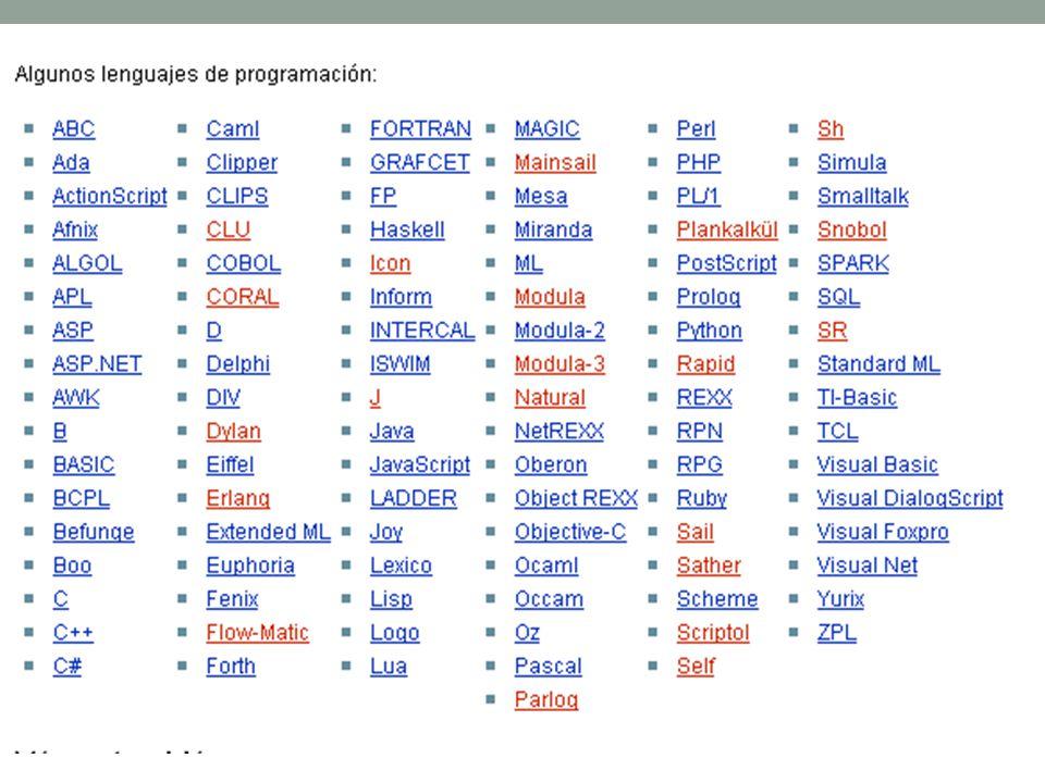 Lenguajes de Alto y Bajo Nivel Bajo Nivel: Muy similar al código de máquina.