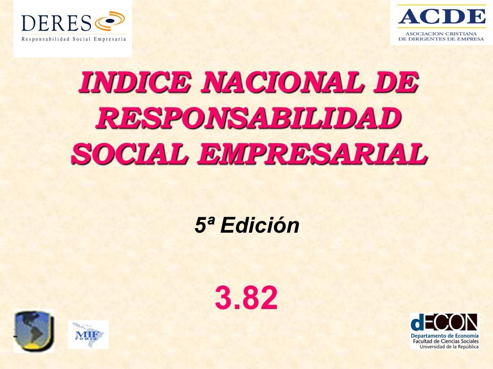 INDICE NACIONAL DE RESPONSABILIDAD SOCIAL EMPRESARIAL 5ª Edición 3.82