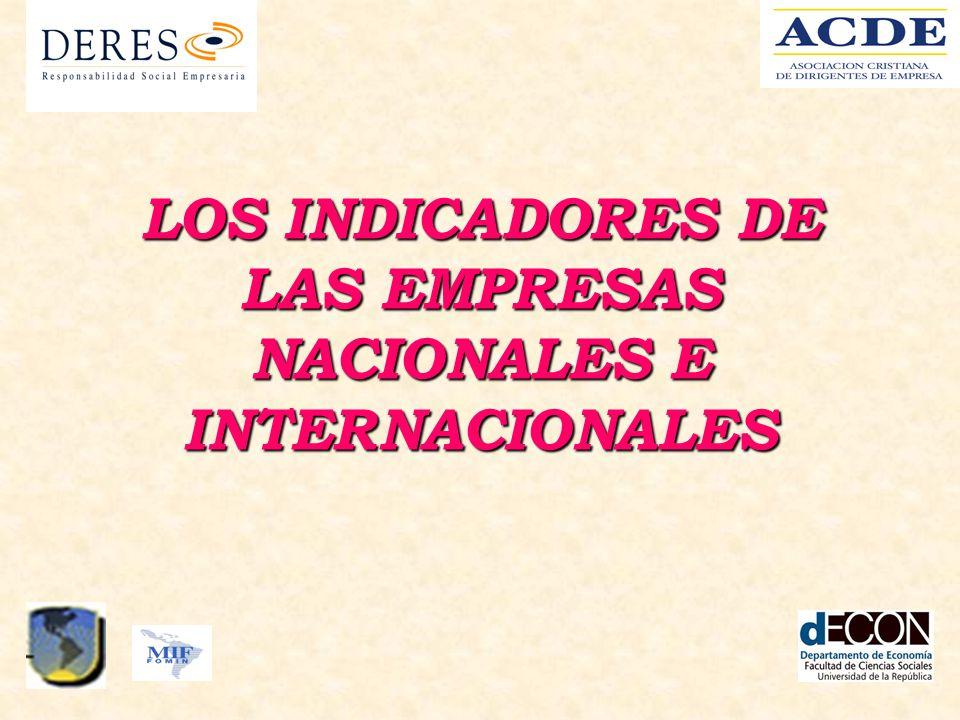 LOS INDICADORES DE LAS EMPRESAS NACIONALES E INTERNACIONALES