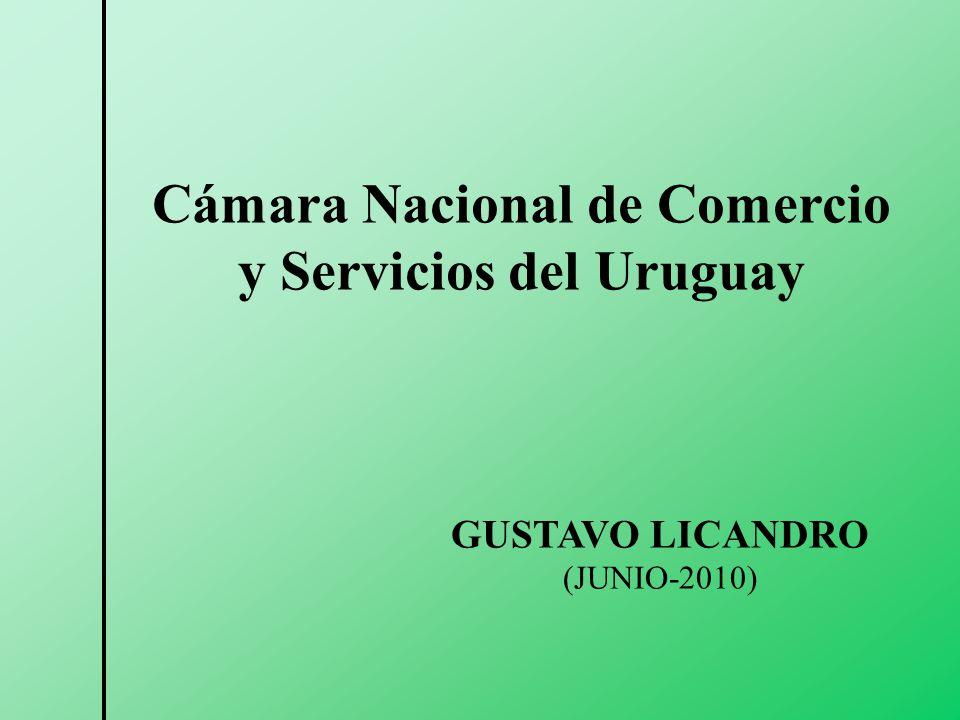 GUSTAVO LICANDRO (JUNIO-2010) Cámara Nacional de Comercio y Servicios del Uruguay
