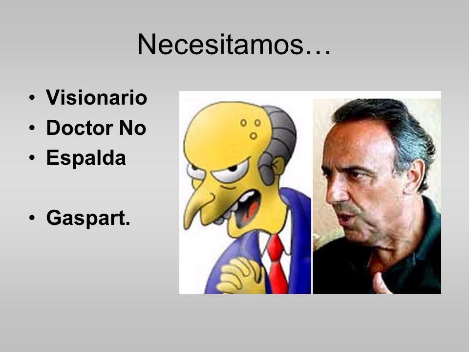 Necesitamos… Visionario Doctor No Espalda Gaspart.