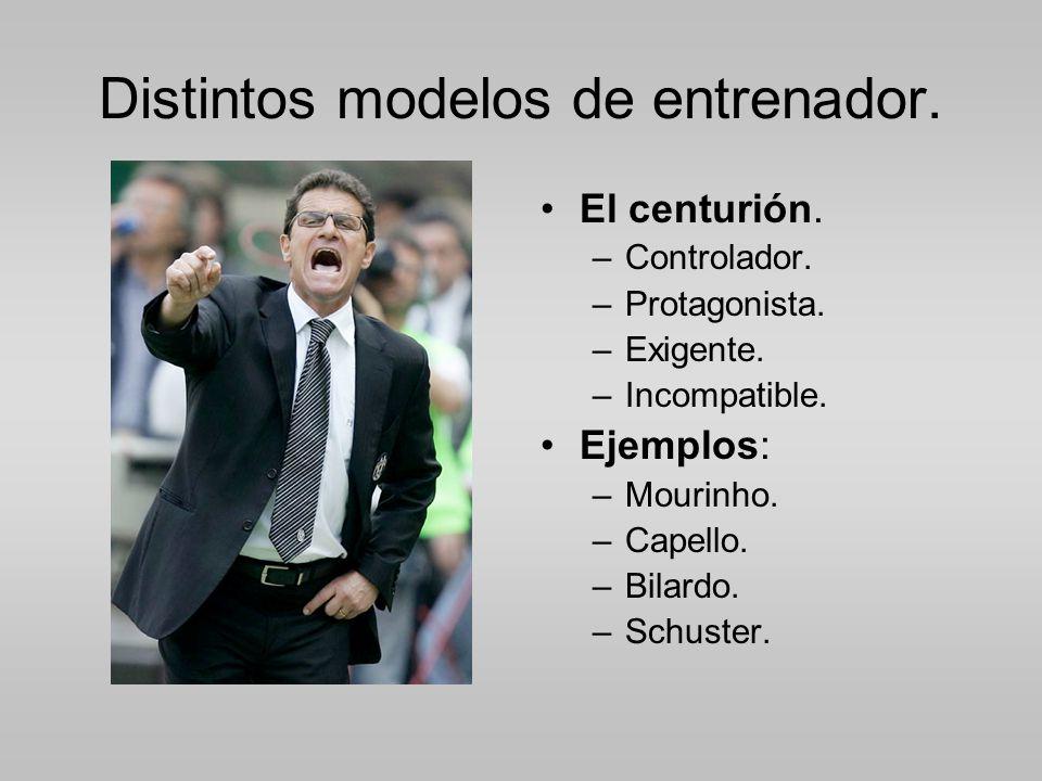 Distintos modelos de entrenador.El centurión. –Controlador.