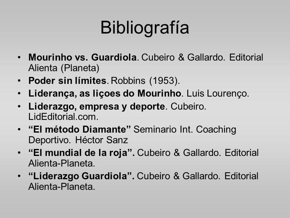 Bibliografía Mourinho vs.Guardiola. Cubeiro & Gallardo.