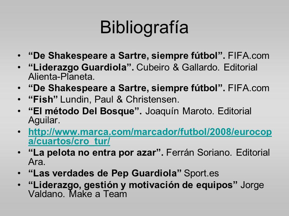 Bibliografía De Shakespeare a Sartre, siempre fútbol.