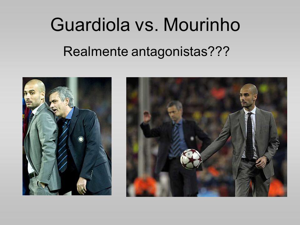 Guardiola vs. Mourinho Realmente antagonistas???
