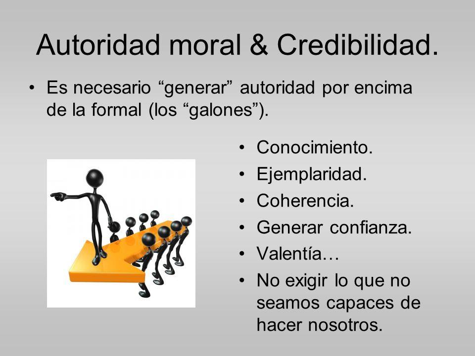 Autoridad moral & Credibilidad.