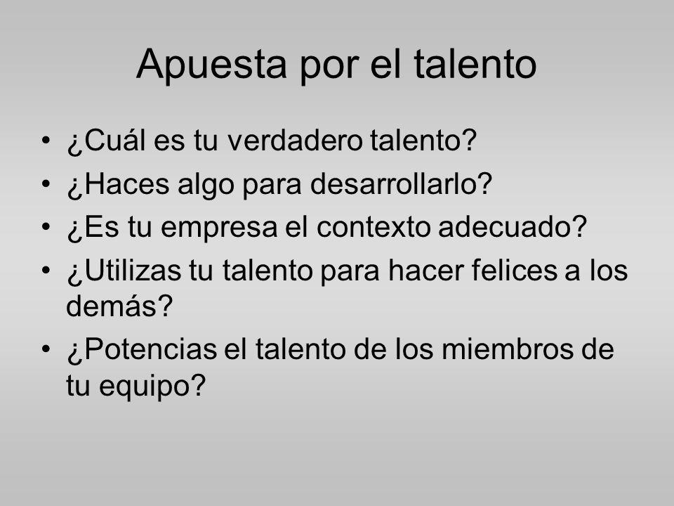 Apuesta por el talento ¿Cuál es tu verdadero talento.