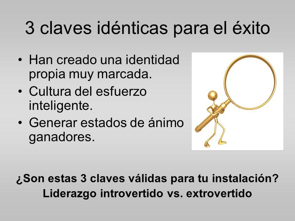 3 claves idénticas para el éxito Han creado una identidad propia muy marcada.