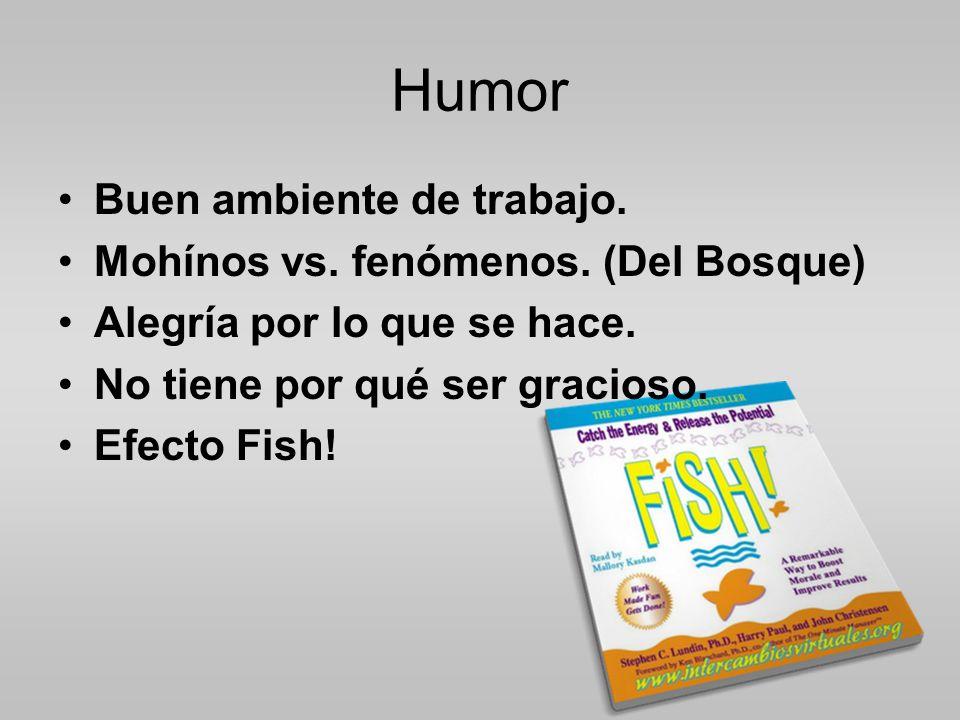 Humor Buen ambiente de trabajo.Mohínos vs. fenómenos.
