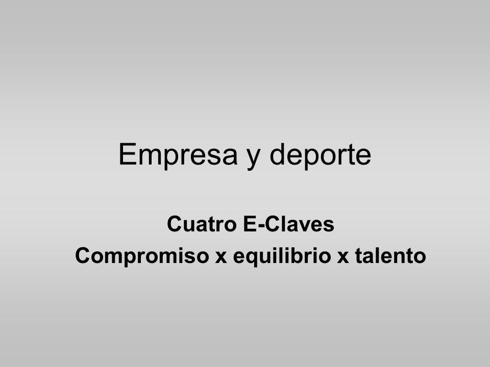 Empresa y deporte Cuatro E-Claves Compromiso x equilibrio x talento