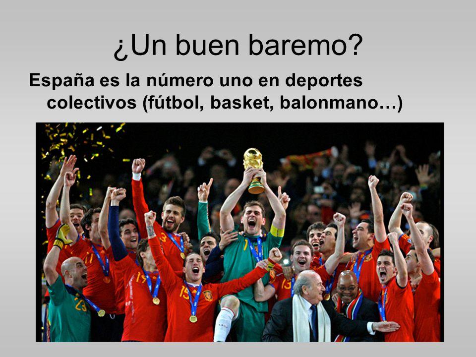 ¿Un buen baremo? España es la número uno en deportes colectivos (fútbol, basket, balonmano…)