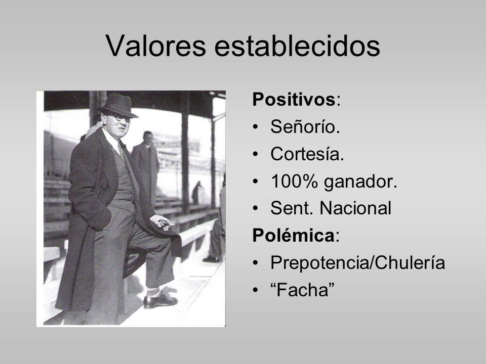 Valores establecidos Positivos: Señorío.Cortesía.