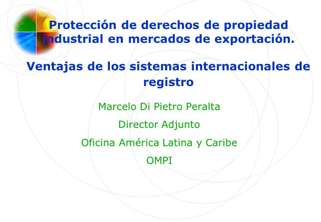Protección de derechos de propiedad industrial en mercados de exportación. Ventajas de los sistemas internacionales de registro Marcelo Di Pietro Pera
