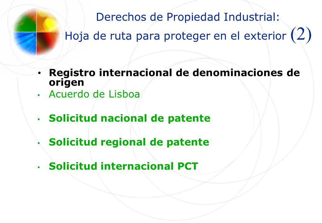 Derechos de Propiedad Industrial: Hoja de ruta para proteger en el exterior (2) Registro internacional de denominaciones de origen Acuerdo de Lisboa S