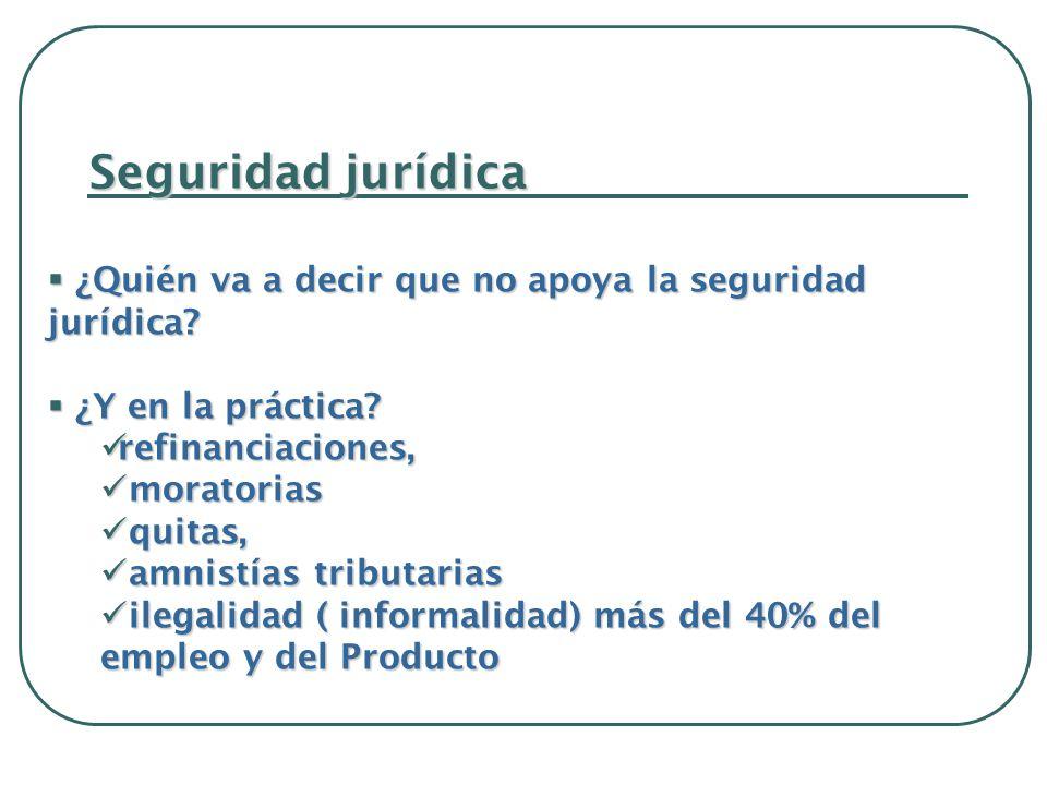 Seguridad jurídica ¿Quién va a decir que no apoya la seguridad jurídica.