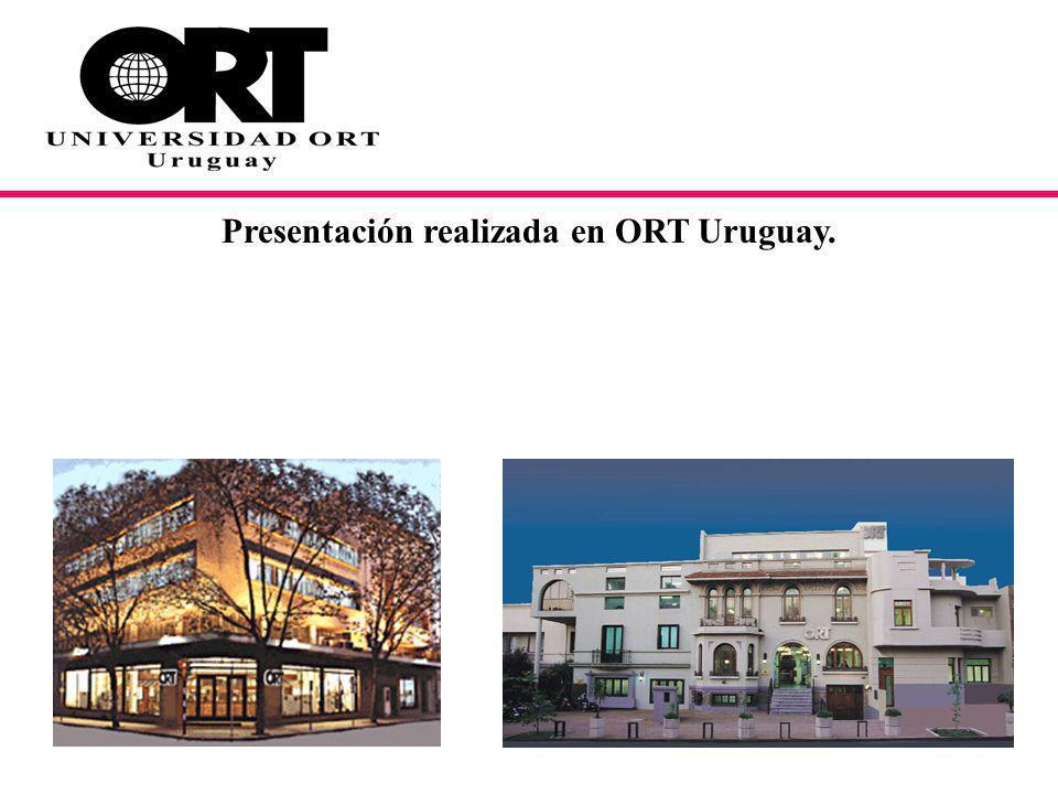 Presentación realizada en ORT Uruguay.