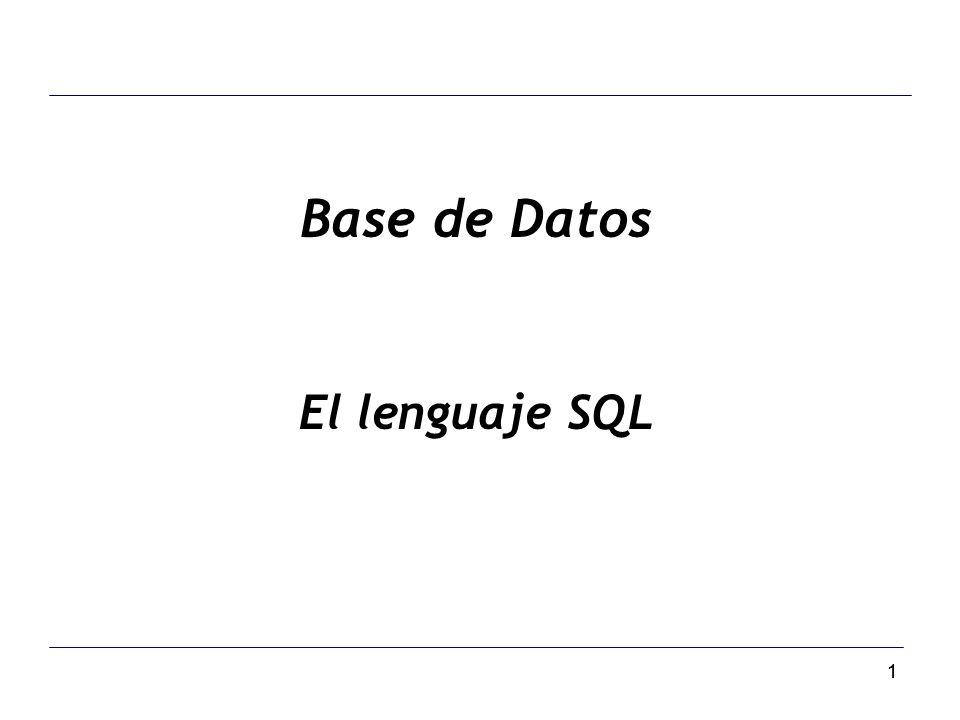 11 Base de Datos El lenguaje SQL