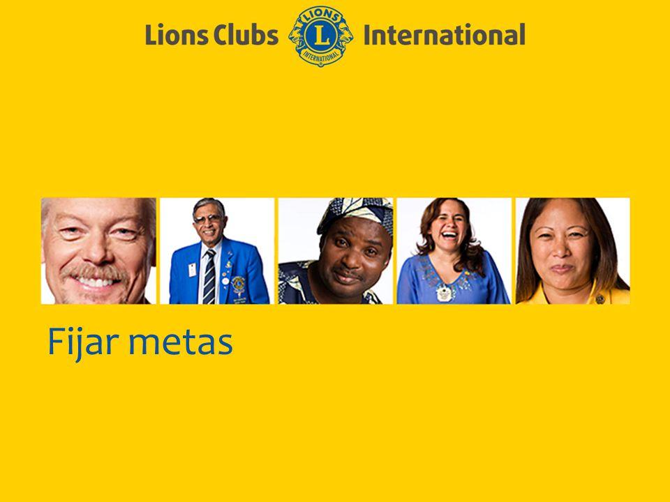 LIONS CLUBS INTERNATIONAL PROCESO CLUB EXCELENTE 5 Enunciados eficaces de las metas Específicas Mensurables Alcanzables Realistas De duración determinada 5