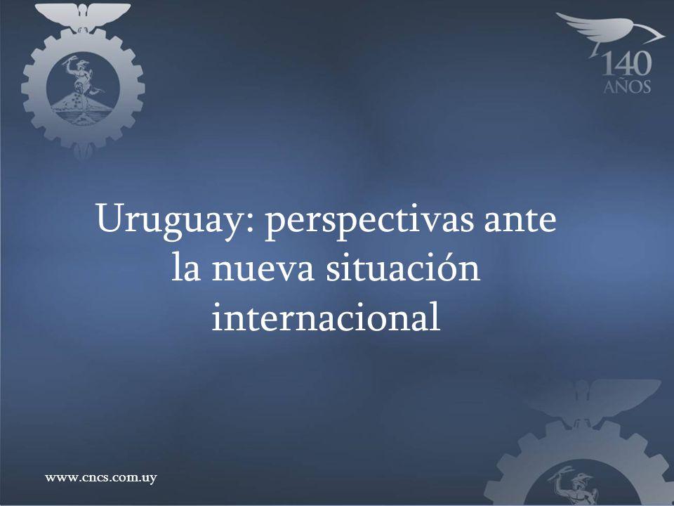 Uruguay: perspectivas ante la nueva situación internacional www.cncs.com.uy