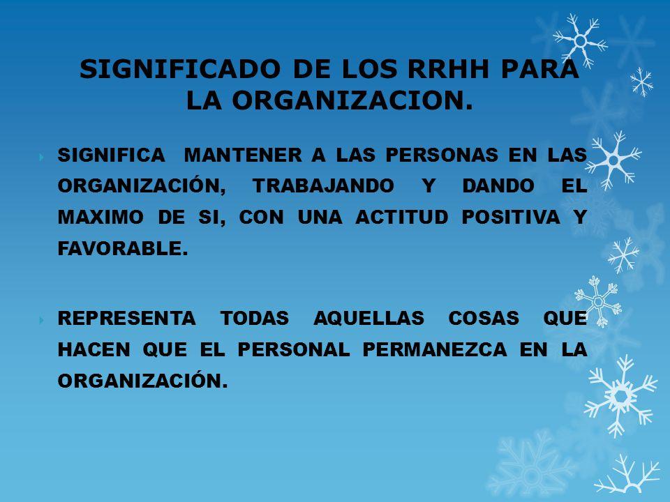 FUNCIONES PRINCIPALES DE LA ADMINISTRACION DE RRHH PRESTAR SERVICIOS EN LA ORGANIZACIÓN A TRAVES DE SUS CUADROS GERENCIALES Y OPERATIVOS.