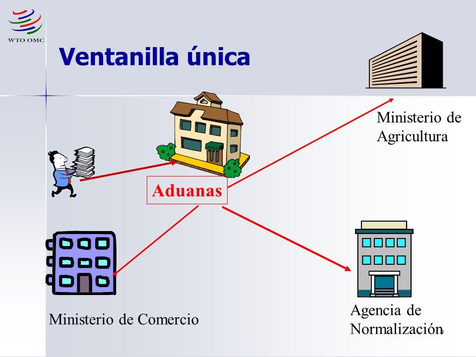 9 Ministerio de Agricultura Ministerio de Comercio Agencia de Normalización Aduanas Ventanilla única