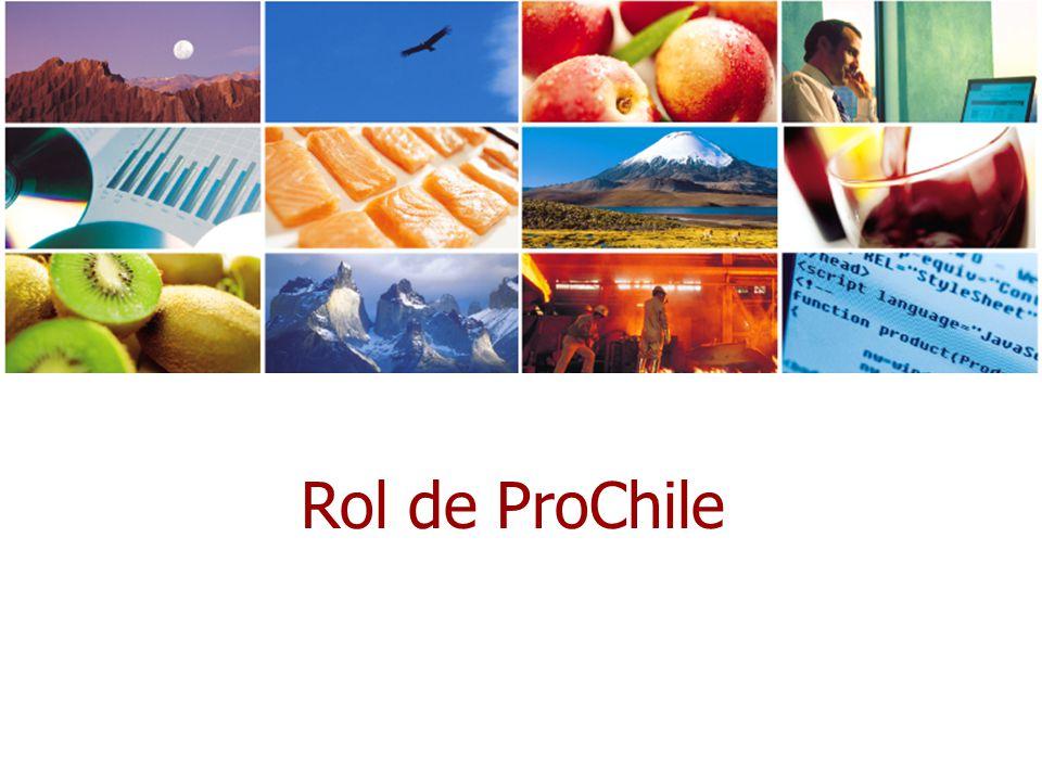 Misión Promover el aumento de las exportaciones, velando por: el incremento de los productos, el aumento en el número de empresas exportadoras, especialmente pequeñas y medianas empresas con potencial, la diversificación de los mercados de destino