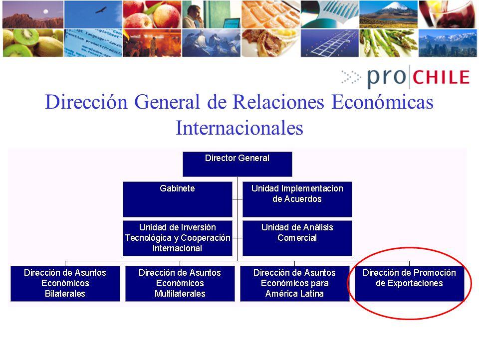 ProChile: 30 años de acción La Dirección de Promoción de Exportaciones - ProChile - depende de la Dirección de Relaciones Económicas Internacionales del Ministerio de Relaciones Exteriores de Chile.