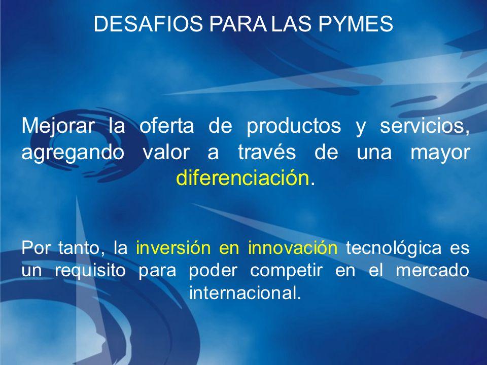 Mejorar la oferta de productos y servicios, agregando valor a través de una mayor diferenciación.