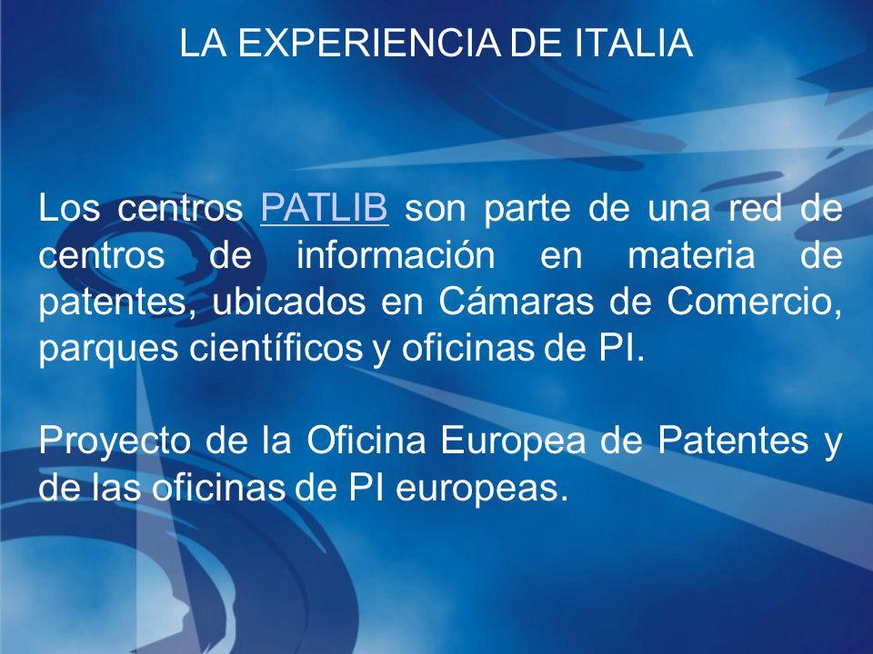 Los centros PATLIB son parte de una red de centros de información en materia de patentes, ubicados en Cámaras de Comercio, parques científicos y oficinas de PI.PATLIB Proyecto de la Oficina Europea de Patentes y de las oficinas de PI europeas.