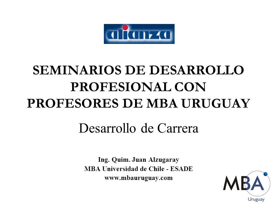 SEMINARIOS DE DESARROLLO PROFESIONAL CON PROFESORES DE MBA URUGUAY Desarrollo de Carrera Ing.