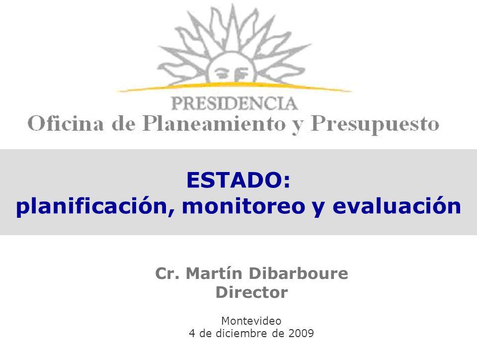 ESTADO: planificación, monitoreo y evaluación Cr.