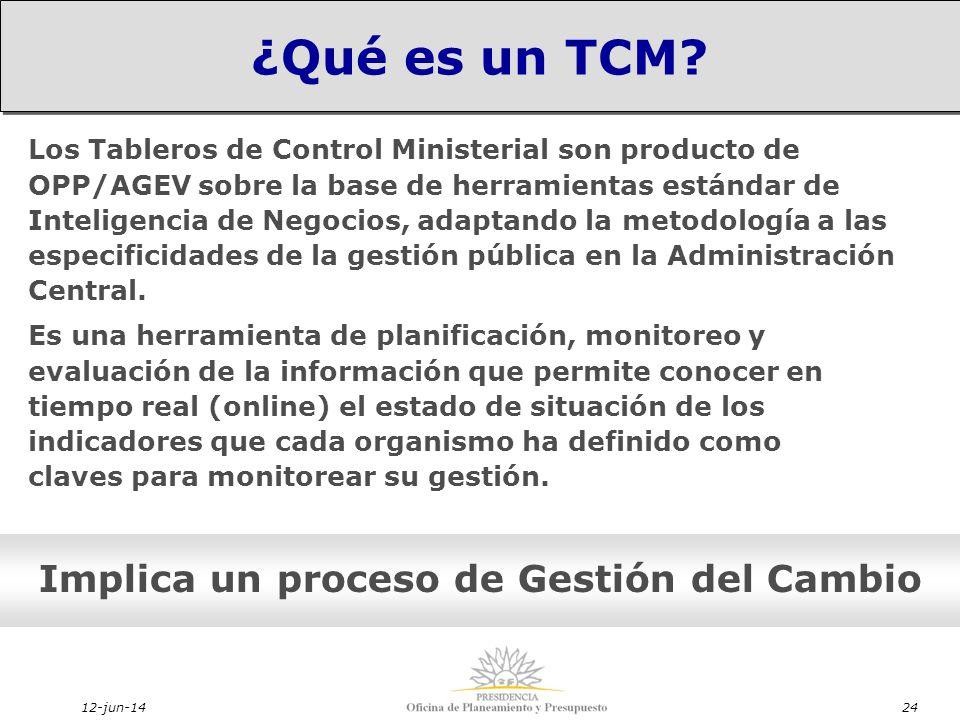 12-jun-1424 Implica un proceso de Gestión del Cambio ¿Qué es un TCM.