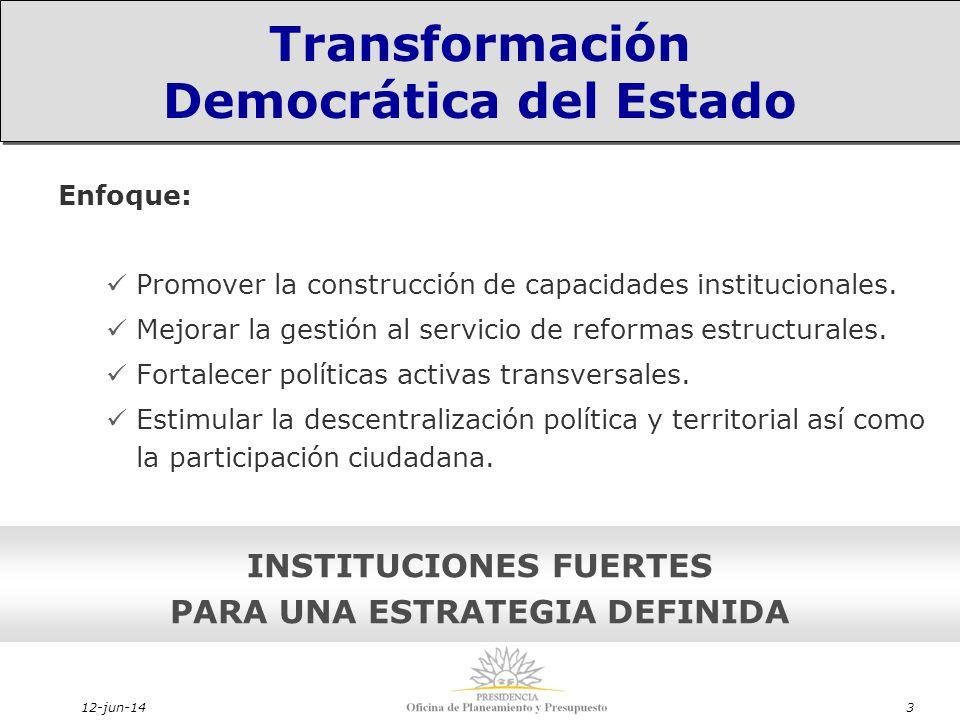12-jun-143 Enfoque: Promover la construcción de capacidades institucionales.