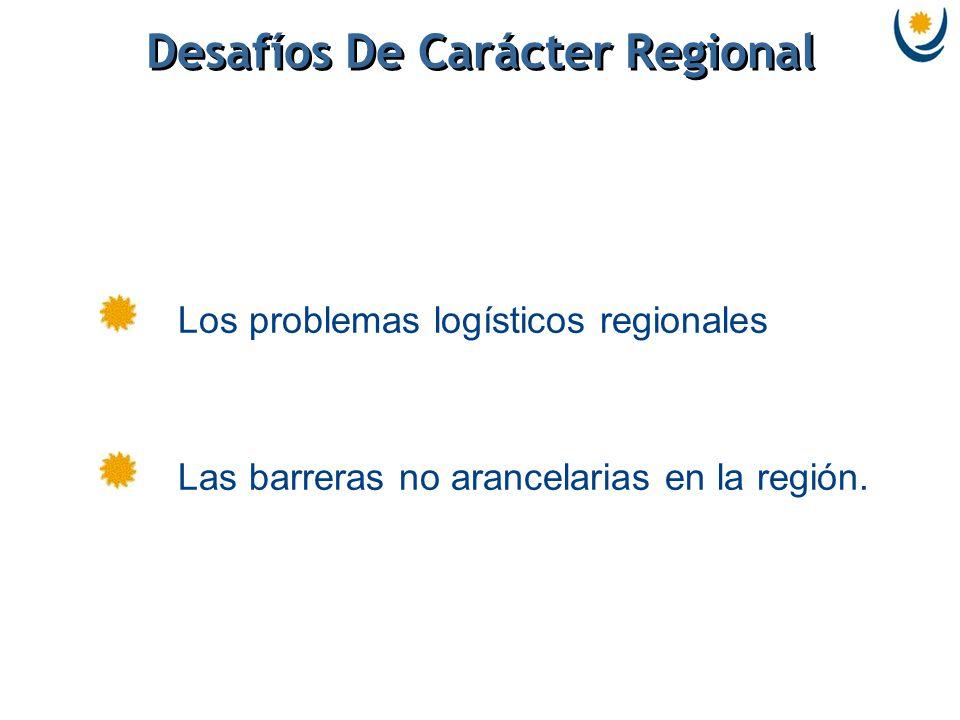 Desafíos De Carácter Regional Los problemas logísticos regionales Las barreras no arancelarias en la región.