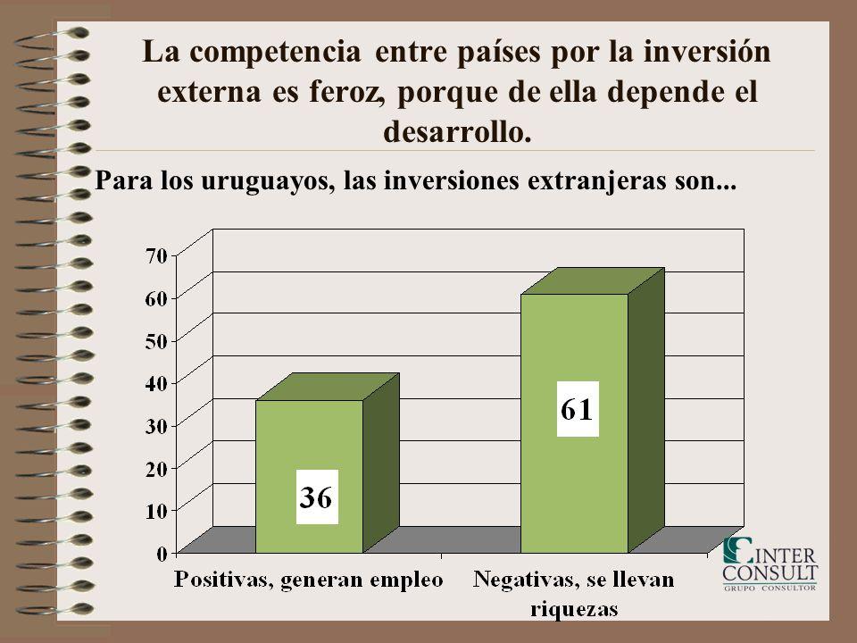 La competencia entre países por la inversión externa es feroz, porque de ella depende el desarrollo. Para los uruguayos, las inversiones extranjeras s