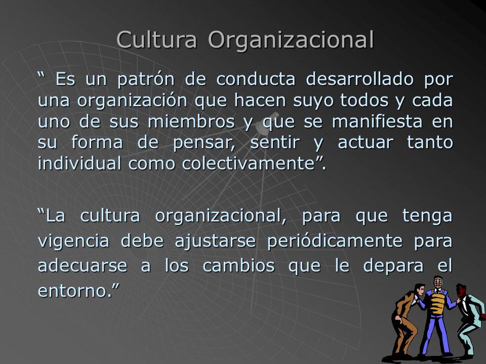 Es el conjunto de tradiciones, creencias, historia, lenguaje, leyes, principios, valores, que identifican a una sociedad y que crea una forma de sentir, pensar y actuar de los miembros que lo conforman
