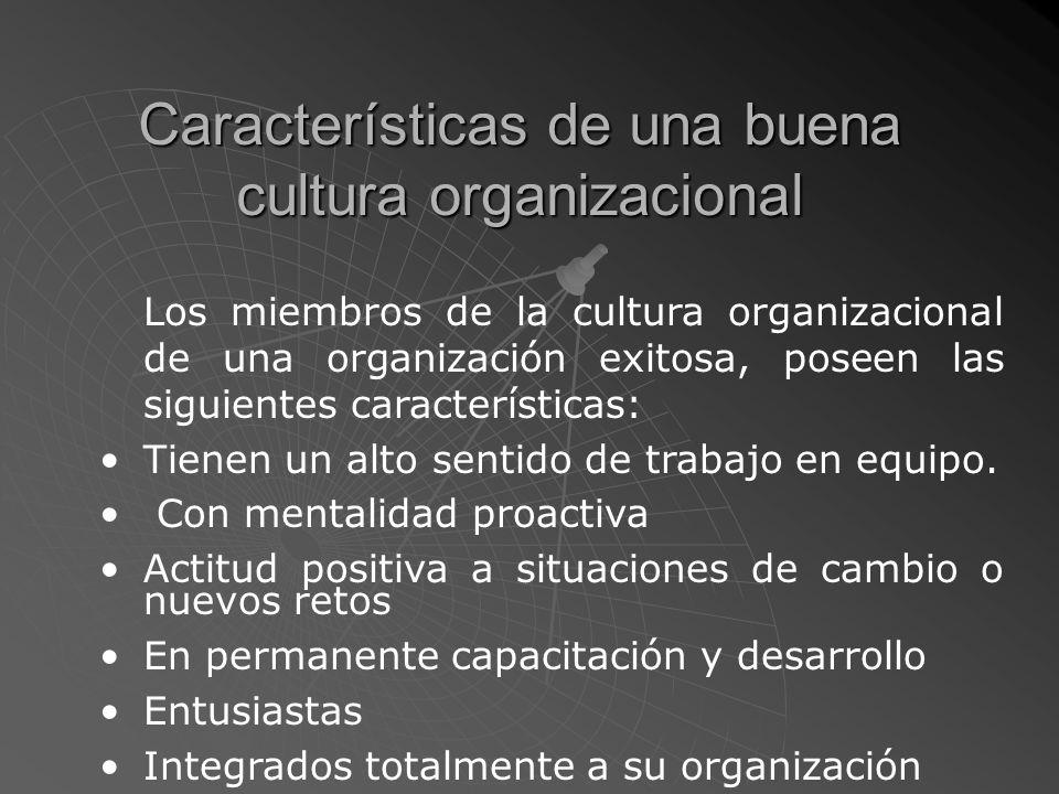 Cultura Organizacional Es un patrón de conducta desarrollado por una organización que hacen suyo todos y cada uno de sus miembros y que se manifiesta en su forma de pensar, sentir y actuar tanto individual como colectivamente.