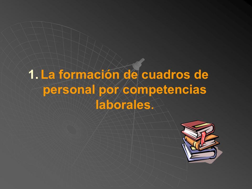 1.La formación de cuadros de personal por competencias laborales. 2.La administración del cambio. 3.Establecer o reestructurar la cultura en la organi