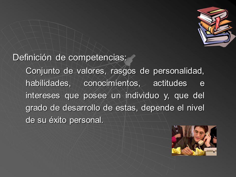 1.La formación de cuadros de personal por competencias laborales.