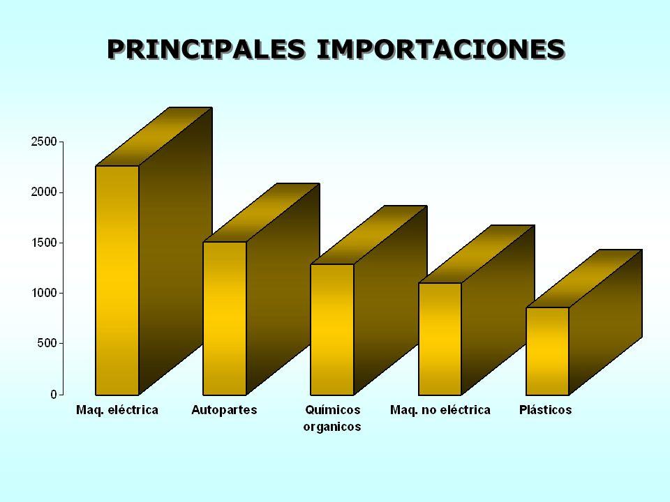 PRINCIPALES IMPORTACIONES
