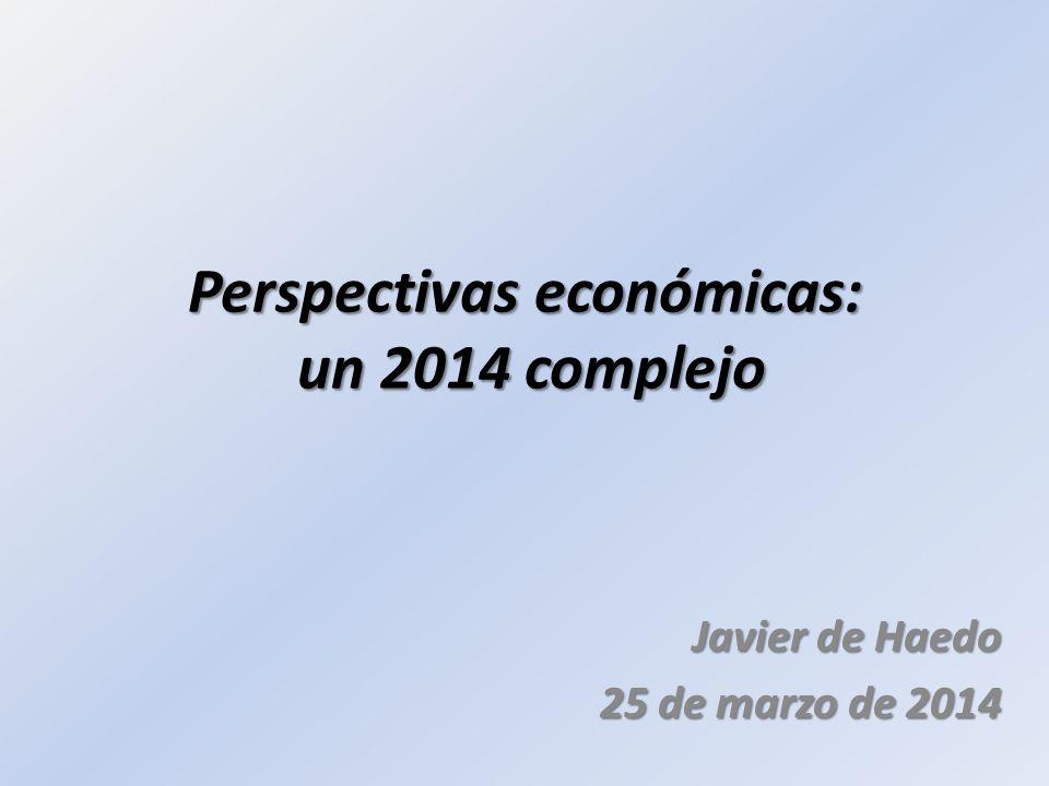 Perspectivas económicas: un 2014 complejo Javier de Haedo 25 de marzo de 2014