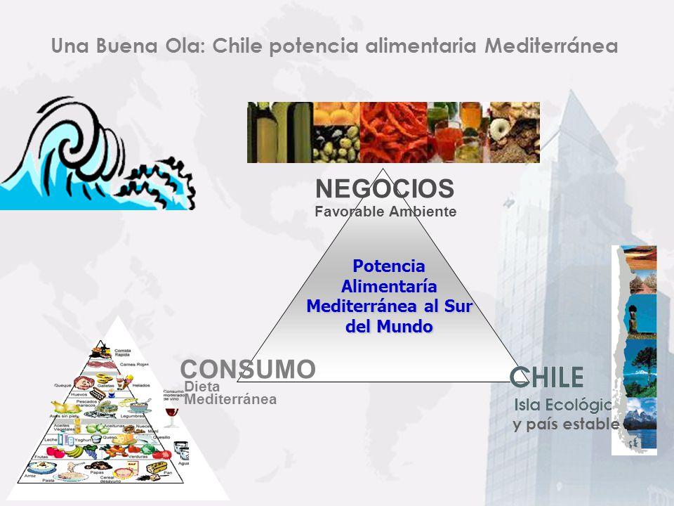 Clima Mediterráneo: Chile como Isla Ecológica Con el Desierto de Atacama en el Norte, la Cordillera de Los Andes al Este, el Océano Pacífico al Oeste y los hielos de la Antártica al Sur, Chile posee un aislamiento natural a plagas y enfermedades.