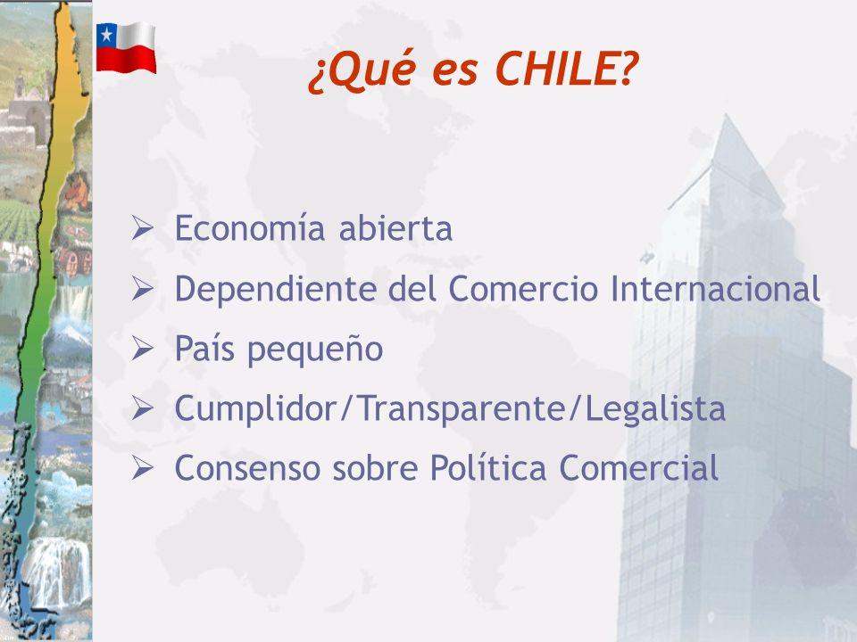 Fuente: Banco Central de Chile, Informe de Comercio Exterior 2003 * Incluye: Agrícolas, Ganadería, Agroindustriales, Alim.