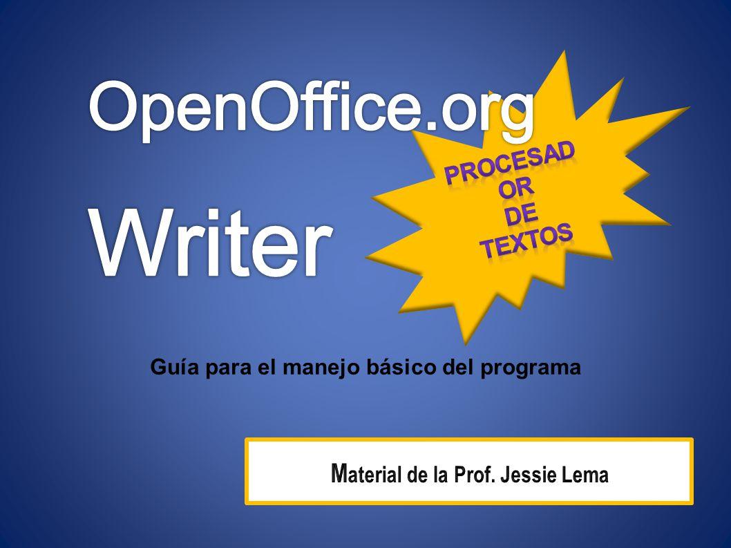 OpenOffice.org WRITER es software libre, un procesador de textos compatible con Microsoft Word.