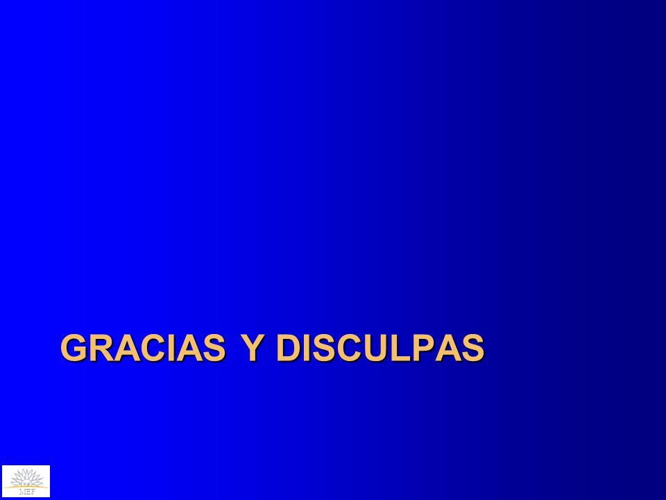 MEF GRACIAS Y DISCULPAS