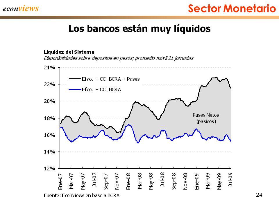 24 econ views Los bancos están muy líquidos Sector Monetario