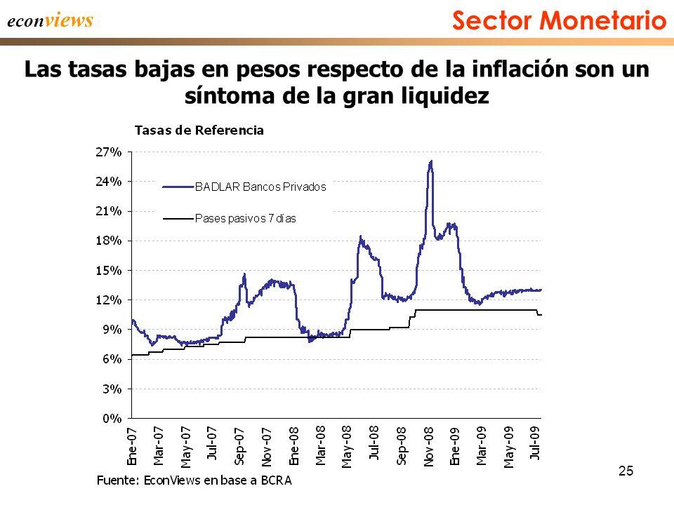 25 econ views Las tasas bajas en pesos respecto de la inflación son un síntoma de la gran liquidez Sector Monetario